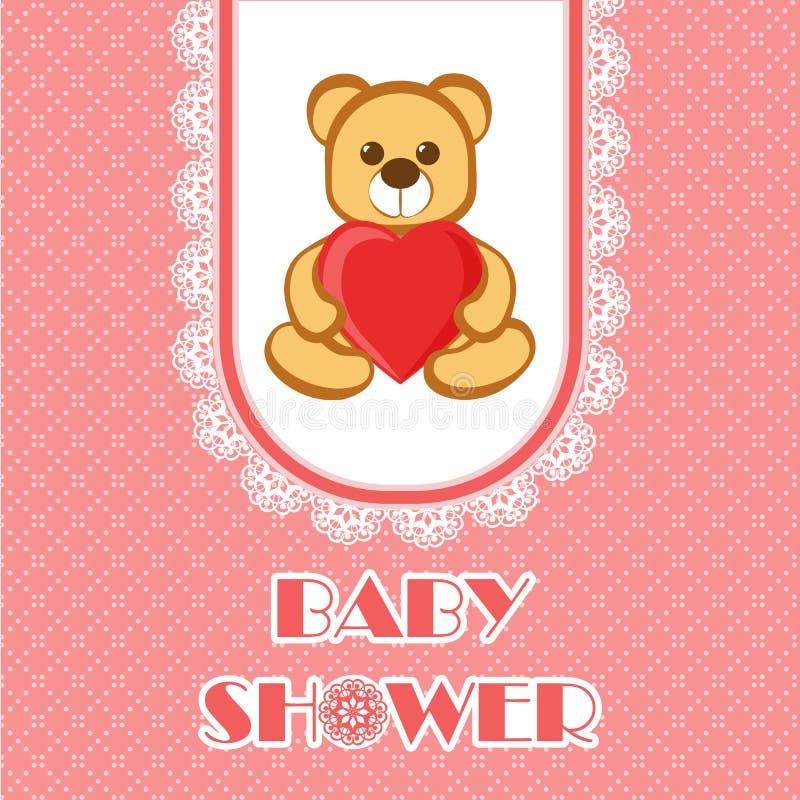 De douchekaart van de baby stock illustratie
