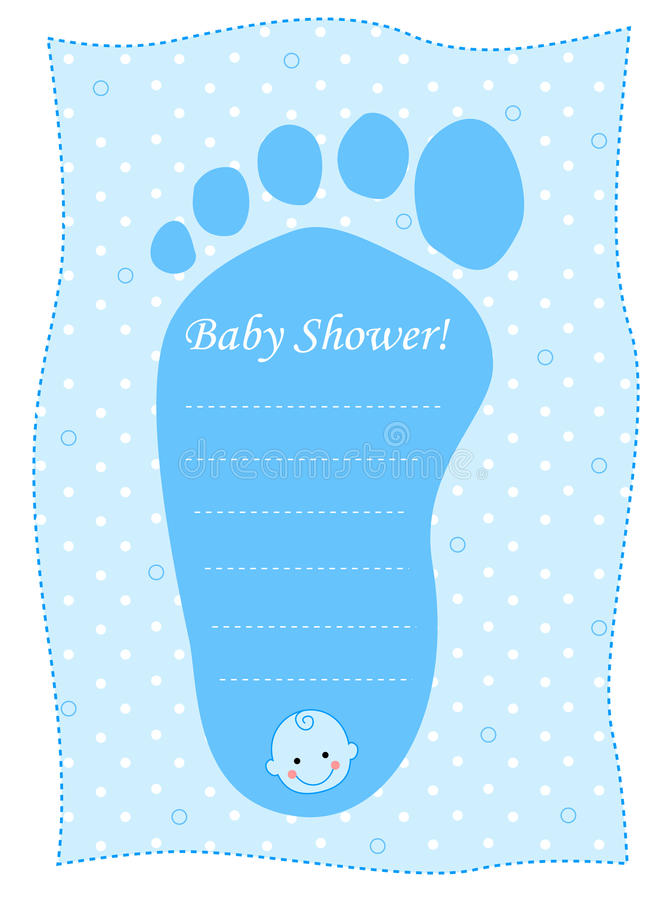 De douchekaart van de baby voor jongens royalty-vrije illustratie