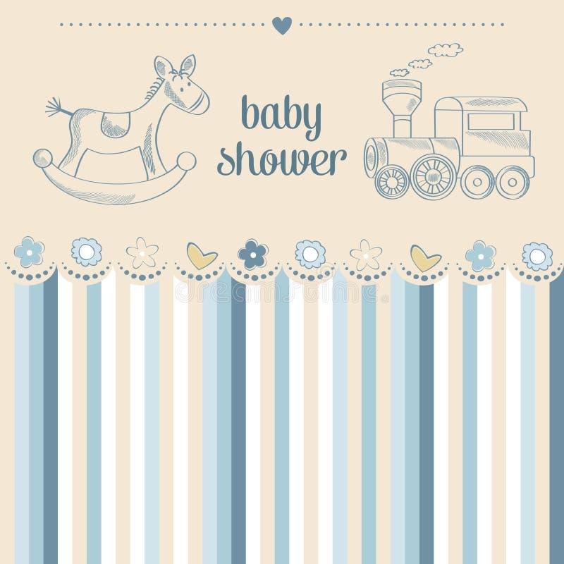 De douchekaart van de babyjongen stock illustratie