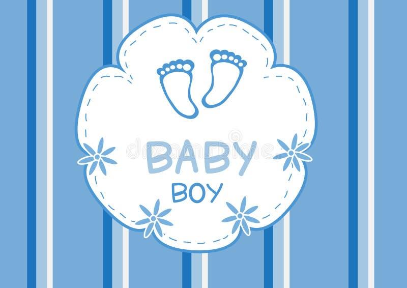 De douchekaart van de babyjongen, de kaart van de babydouche royalty-vrije illustratie