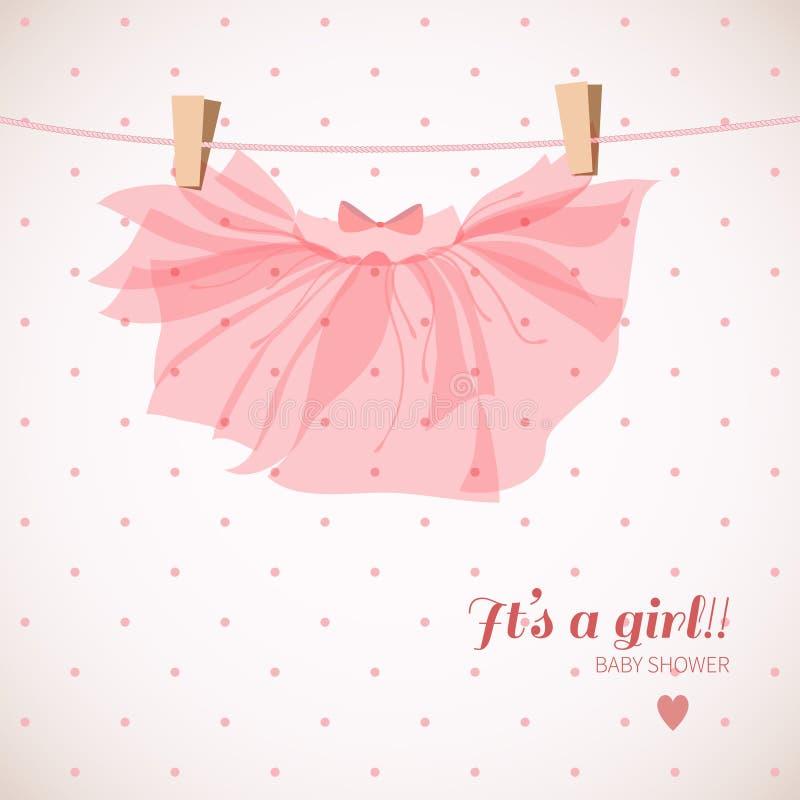 De douchekaart van het babymeisje stock illustratie