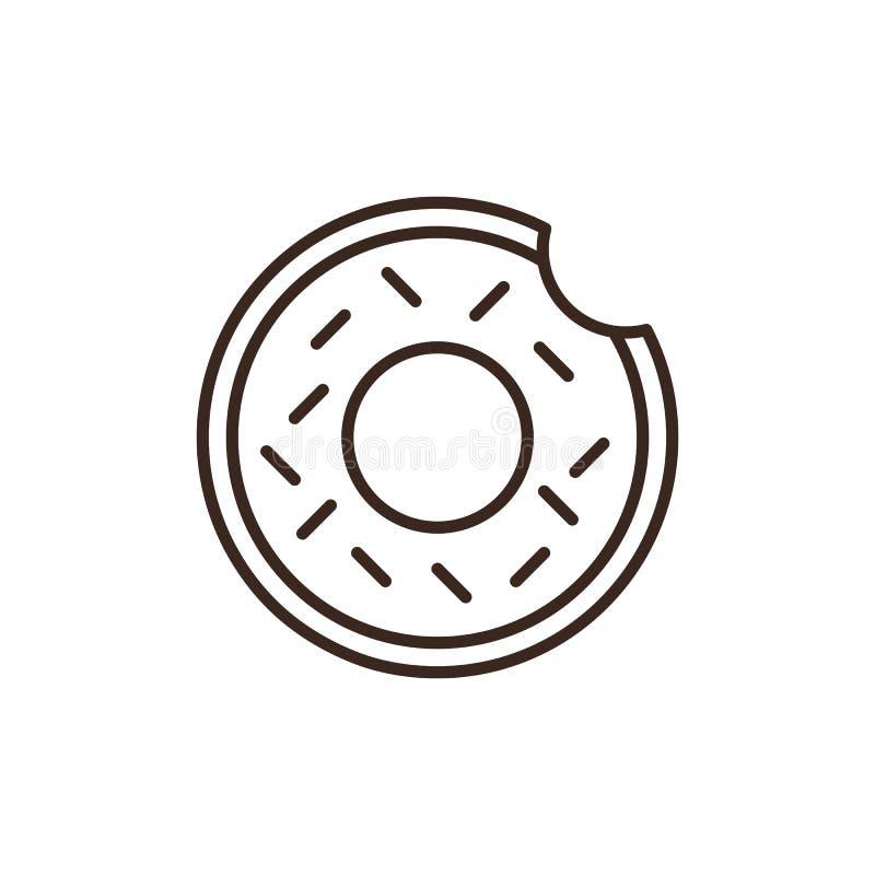De doughnut isoleerde lineair stijlpictogram royalty-vrije illustratie