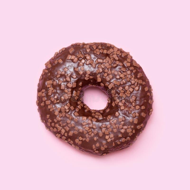 De doughnut van de chocolade royalty-vrije stock fotografie