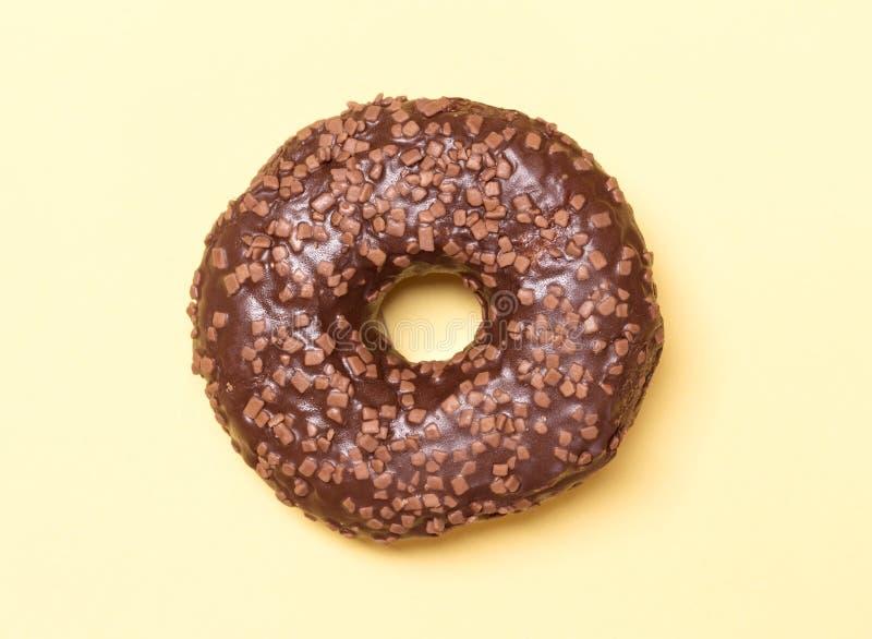 De doughnut van de chocolade royalty-vrije stock afbeeldingen