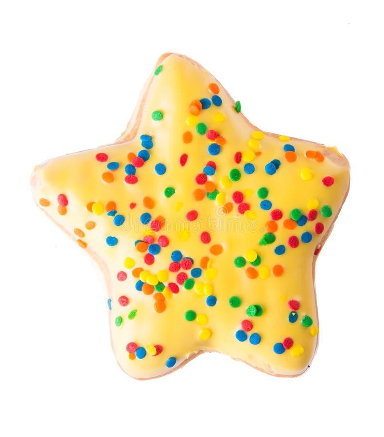 De doughnut van de stervorm op achtergrond royalty-vrije stock fotografie