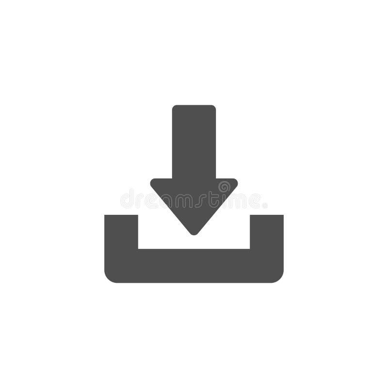 De download of bewaart tekenpictogram Vlakke stijl stock illustratie