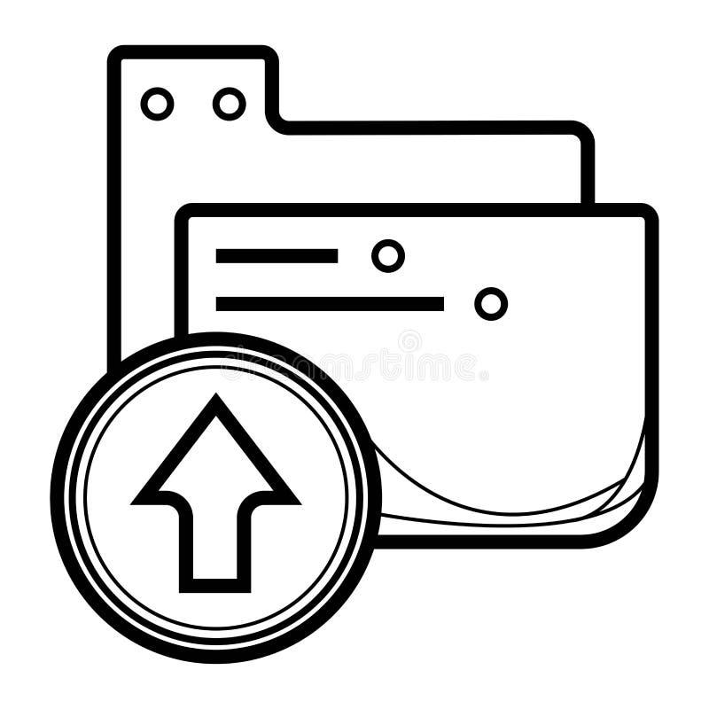 De download en uploadt pictogram vector illustratie