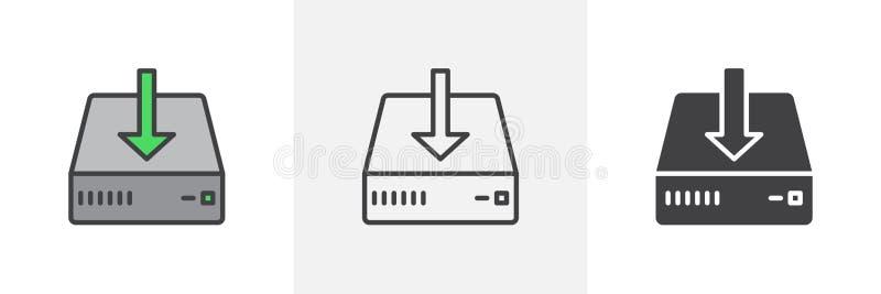 De download, installeert pictogram royalty-vrije illustratie