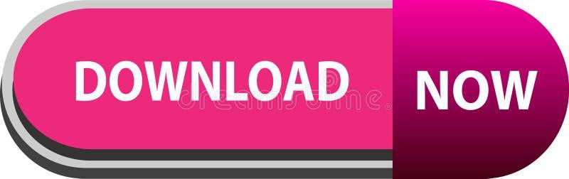 De download knoopt nu op wit achtergrondkleurenontwerp dicht vector illustratie