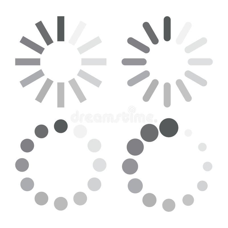 De download of de update vastgestelde pictogrammen van het procesweb stock illustratie