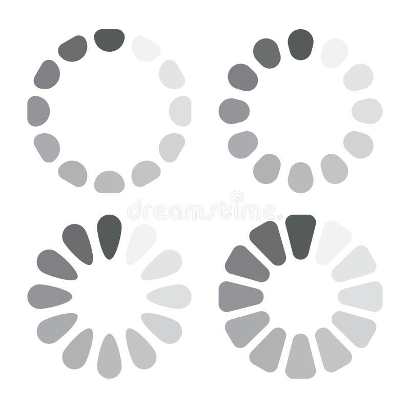 De download of de update vastgestelde pictogrammen van het procesweb royalty-vrije illustratie