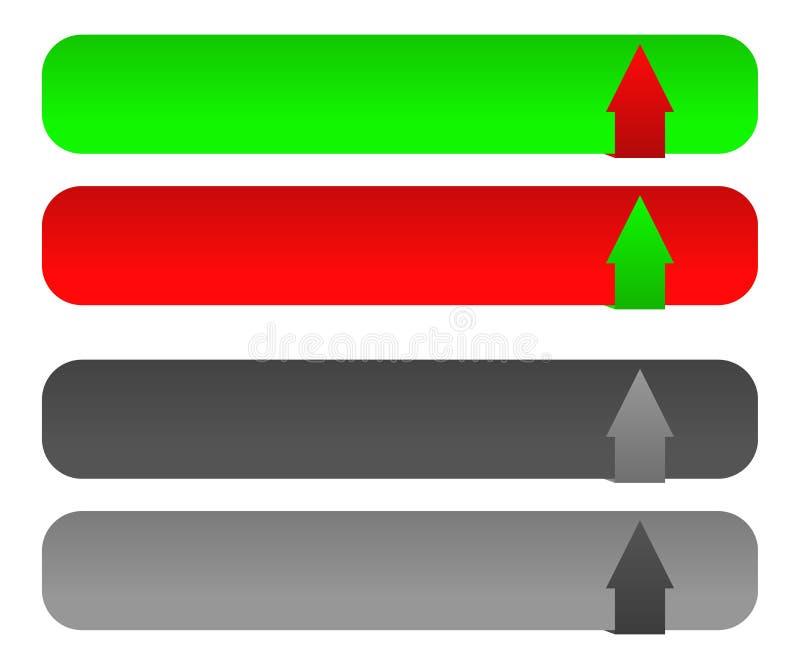 De download/uploadt knoop vastgestelde w verboden versie stock illustratie