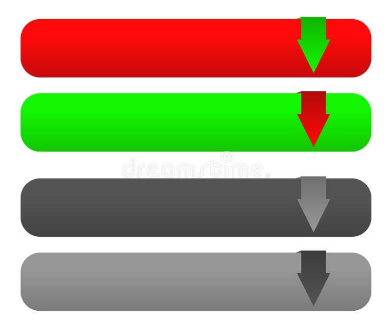 De download/uploadt knoop vastgestelde w verboden versie vector illustratie