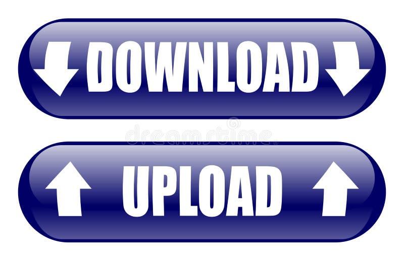 De download uploadt Knopen royalty-vrije illustratie