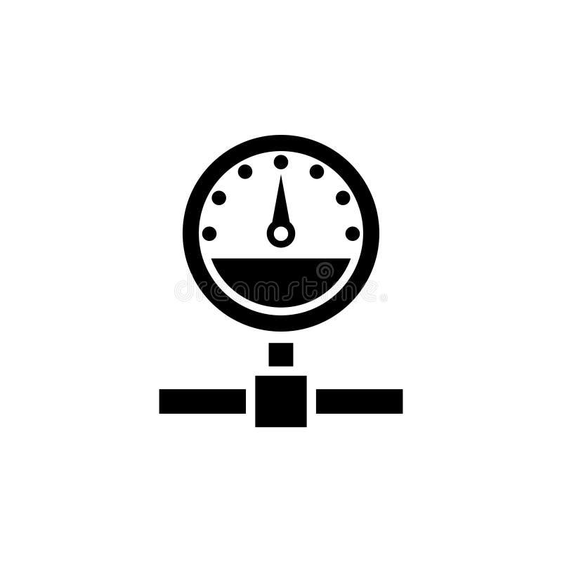 De download uploadt Snelheid, Internet-Test Vlak Vectorpictogram stock illustratie