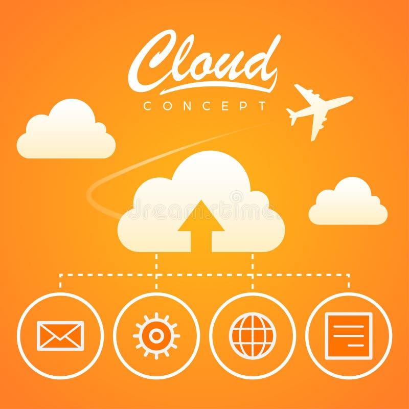De download van de het werkoptimalisering van het wolkenconcept vector illustratie