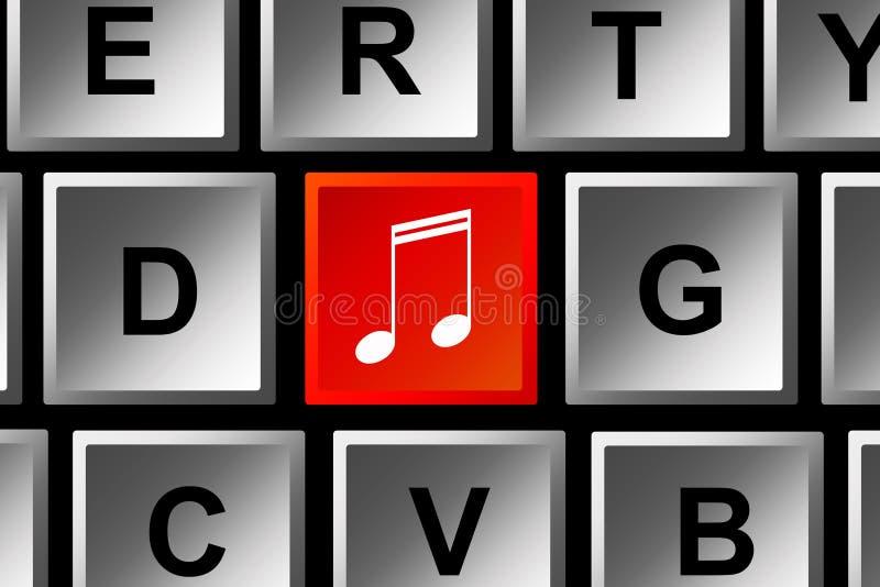 De download van de muziek stock illustratie