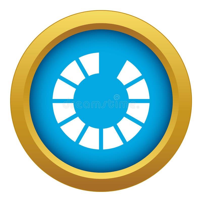De download van het tekenwachten op Internet-geïsoleerde pictogram blauwe vector stock illustratie