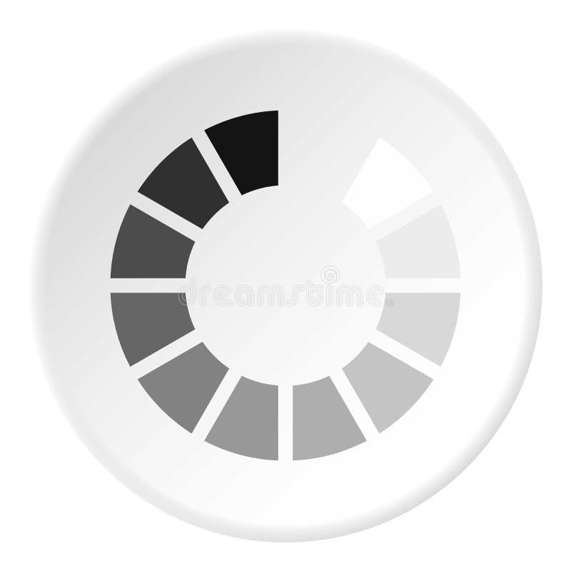 De download van het tekenwachten op Internet-pictogramcirkel stock illustratie