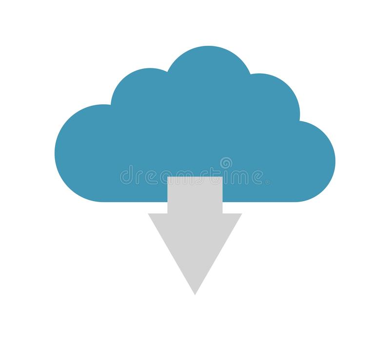 De download van het wolkenpictogram royalty-vrije illustratie