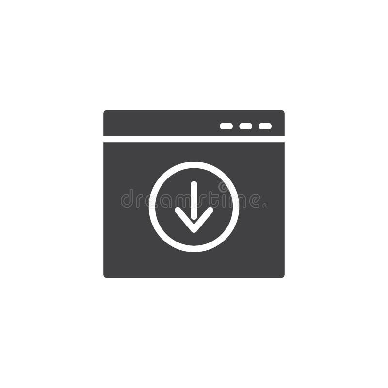 De download vectorpictogram van de websitepagina stock illustratie