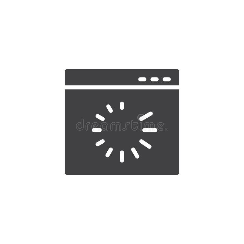 De download vectorpictogram van de websitepagina royalty-vrije illustratie