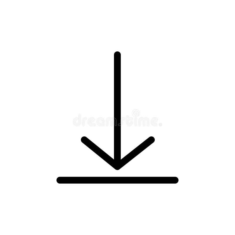 De download, Video, tjirpt Vlak Kleurenpictogram Het vectormalplaatje van de pictogrambanner vector illustratie