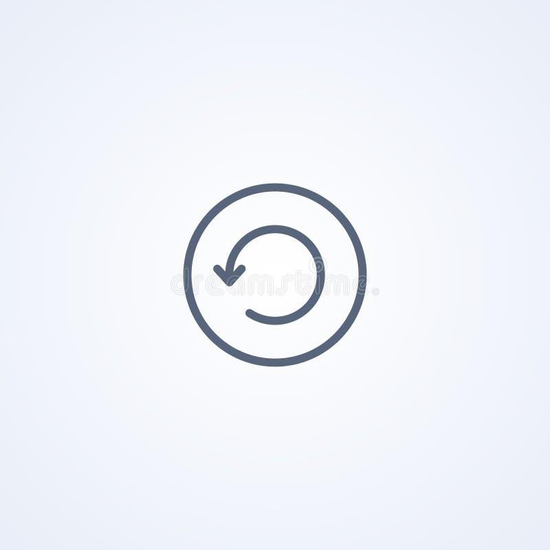 De download wacht, vector beste grijs lijnpictogram royalty-vrije illustratie