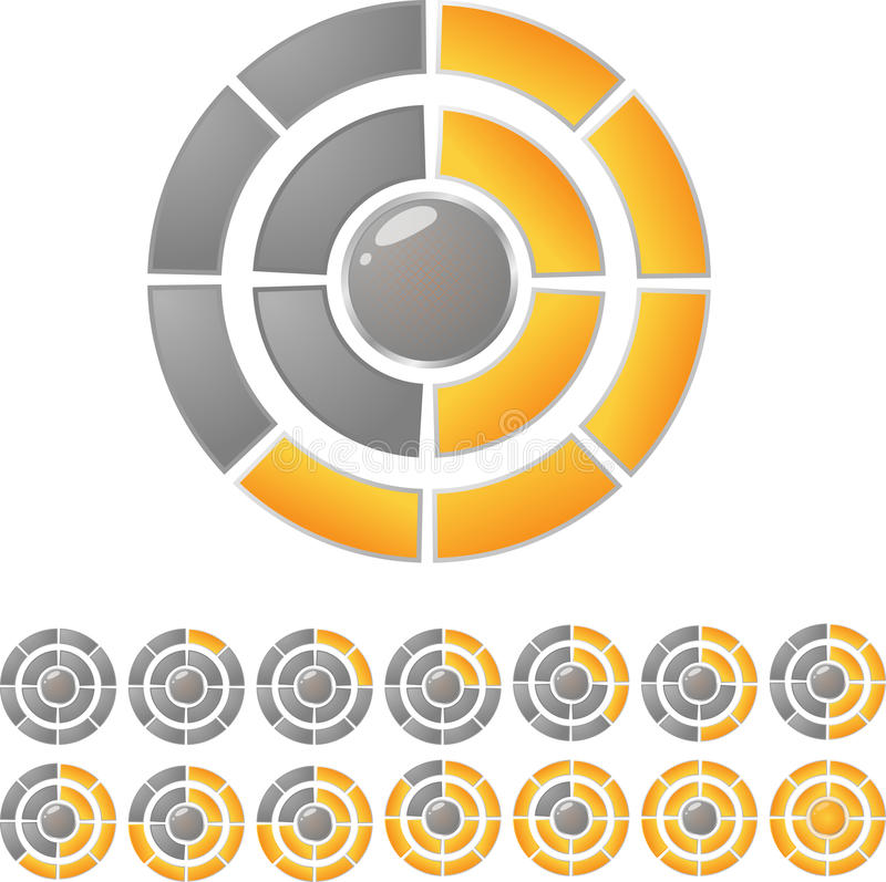 De downloadbar van de cirkel stock illustratie