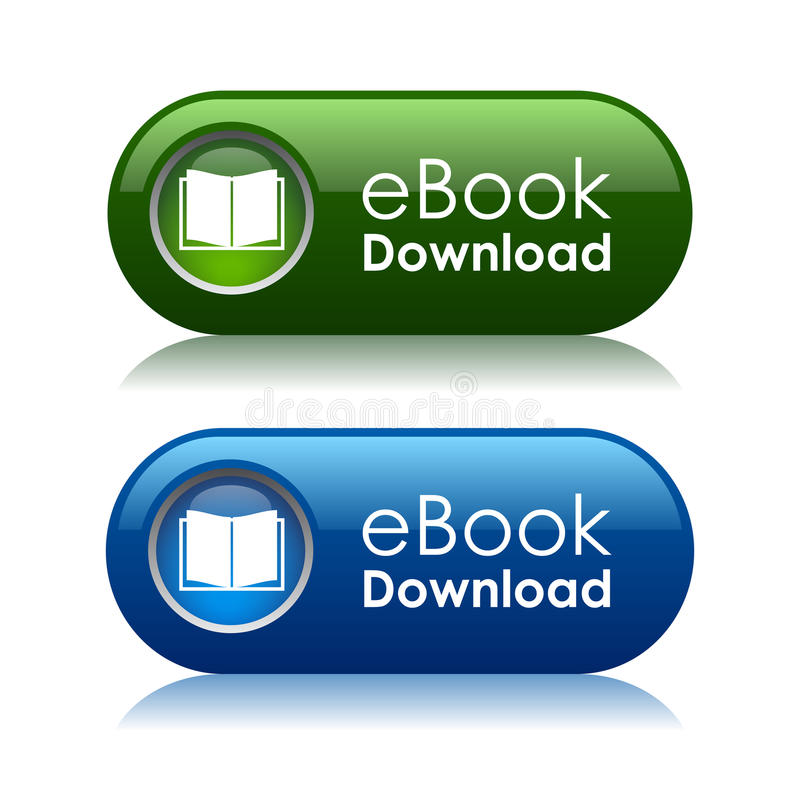 De downloadknopen van Ebook stock illustratie