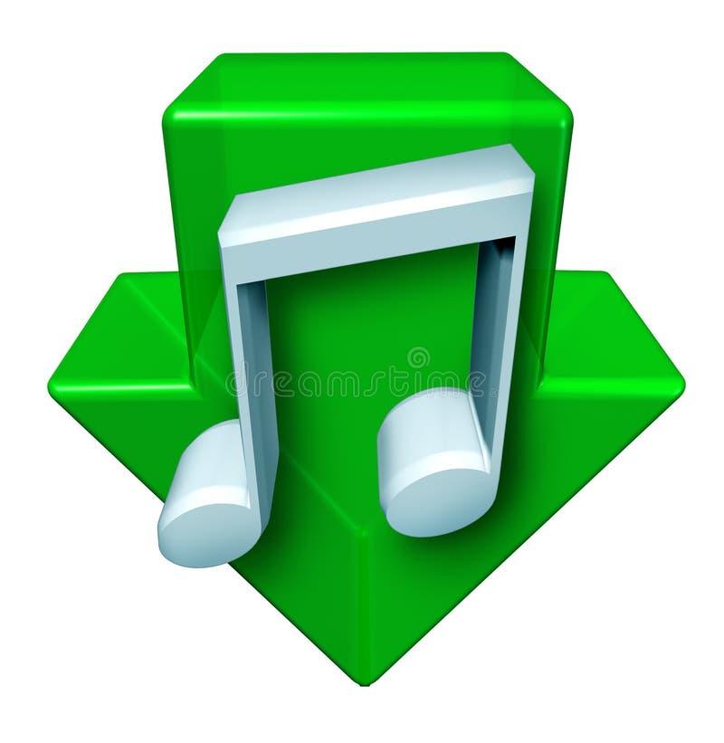 De Downloads van de muziek stock illustratie