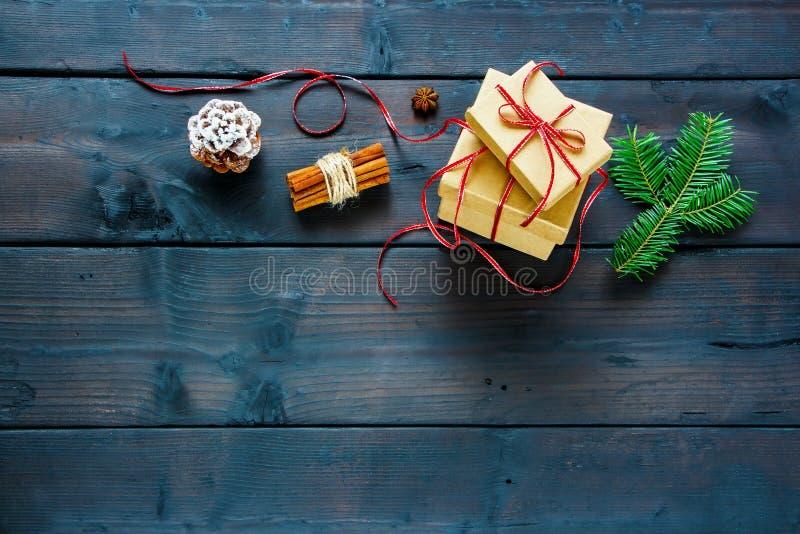 De dozen van de Kerstmisgift royalty-vrije stock foto