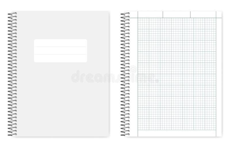 De draad bond vierling beslist het formaatvoorbeeldenboek van de dwarsdoorsnedebrief stock illustratie