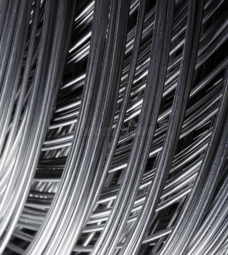 De draad van het staal stock foto
