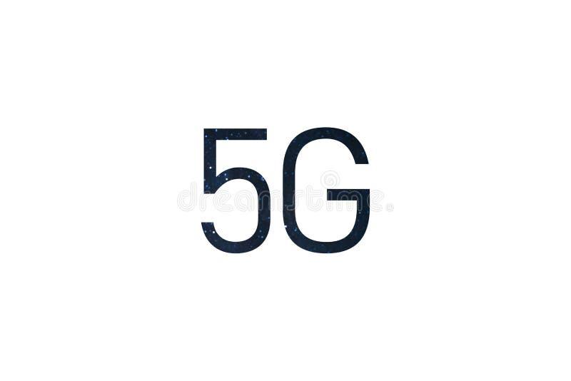 De draadloos systemen van het pictogram5g netwerk en Internet van dingen Samenvatting globaal met radio stock illustratie
