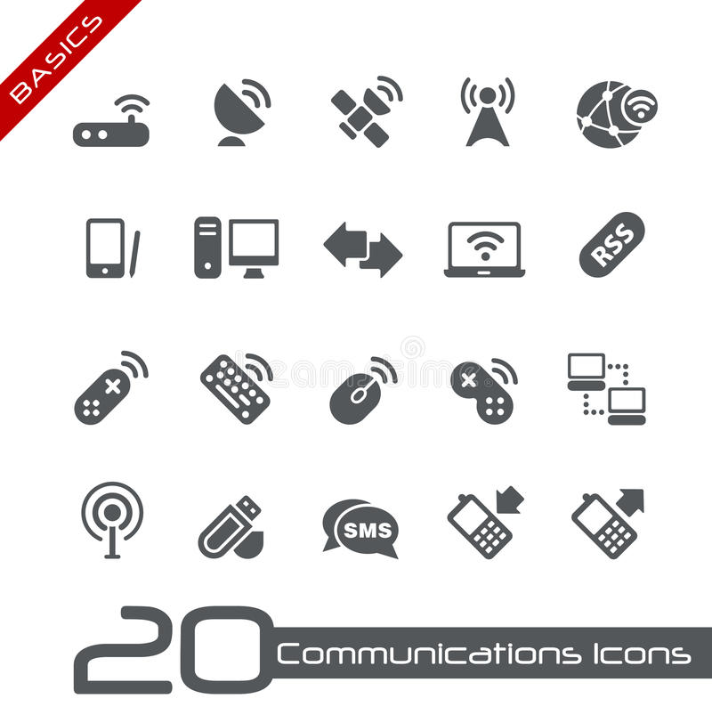 De draadloze Grondbeginselen van Communicatie // van Pictogrammen royalty-vrije illustratie