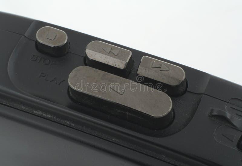 De draagbare macro van de cassettespeler royalty-vrije stock foto