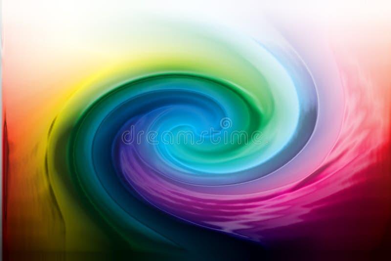 De draai van de kleur stock illustratie