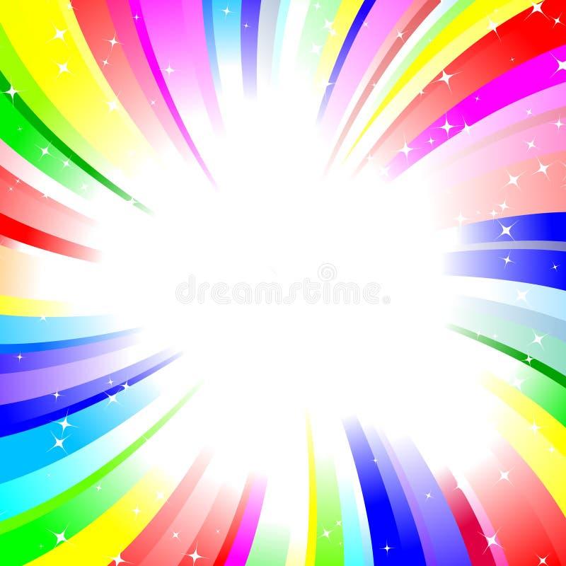 De draaiachtergrond van de regenboog royalty-vrije illustratie