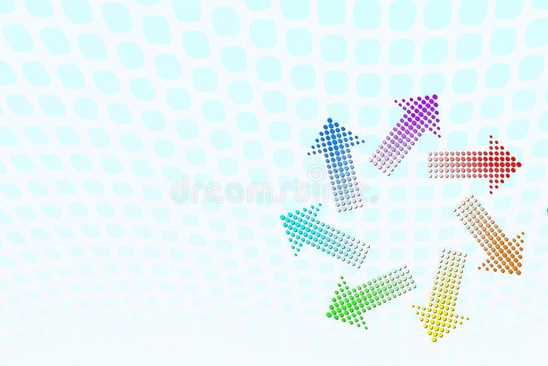 De Draaikolk van de regenboog royalty-vrije illustratie