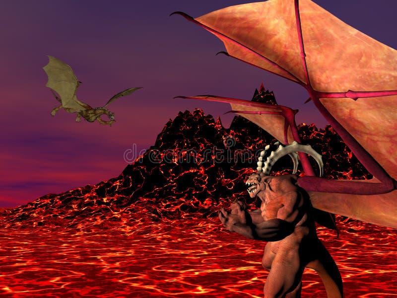 De Draak van de demon royalty-vrije illustratie