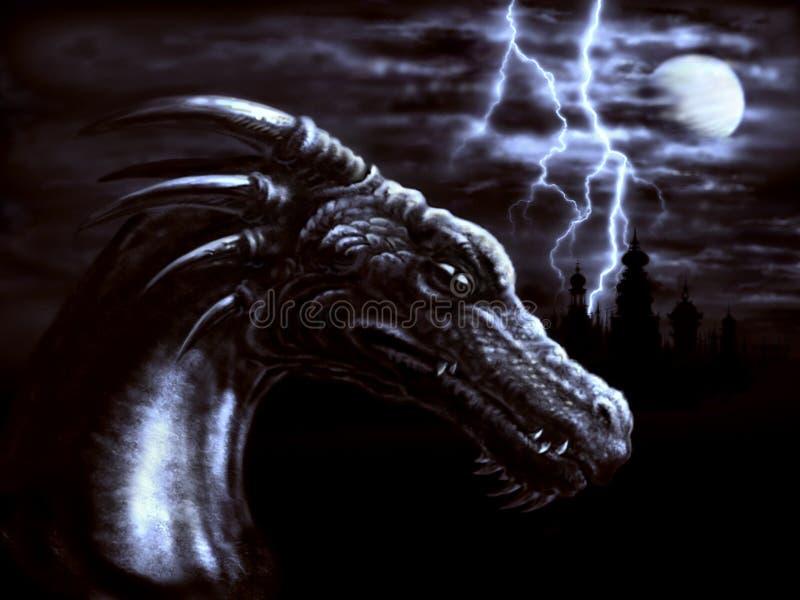 De draak van de nacht stock foto