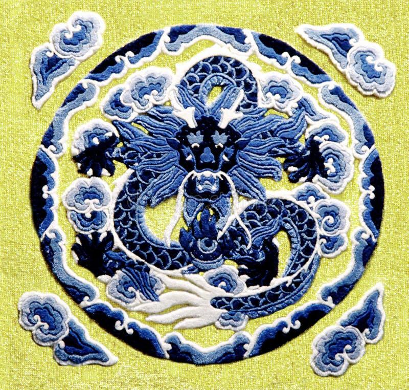 De draak van het borduurwerk royalty-vrije stock afbeelding