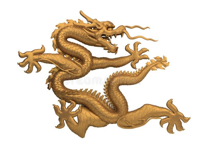 De draak van het brons royalty-vrije illustratie