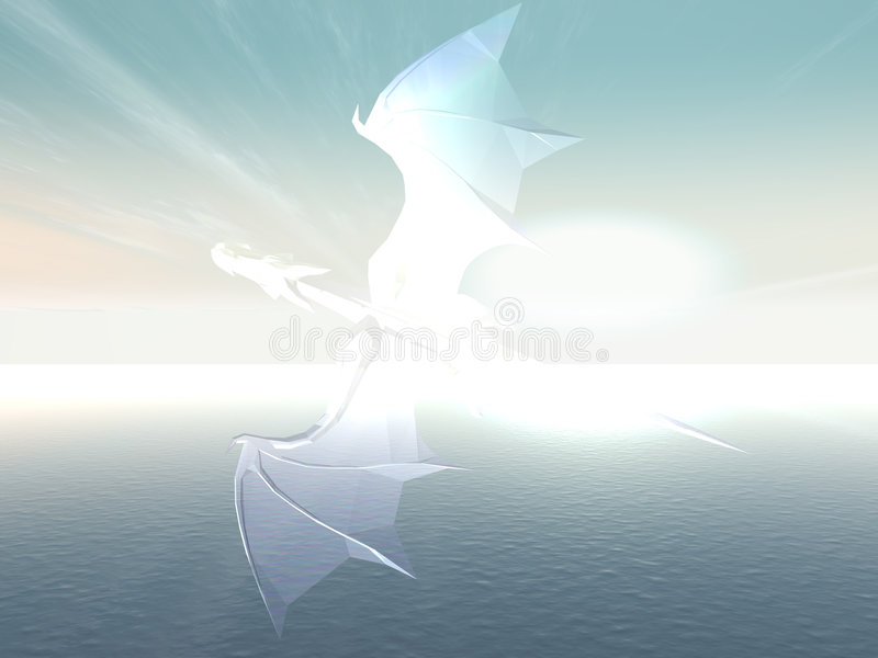De draak van het glas stock illustratie