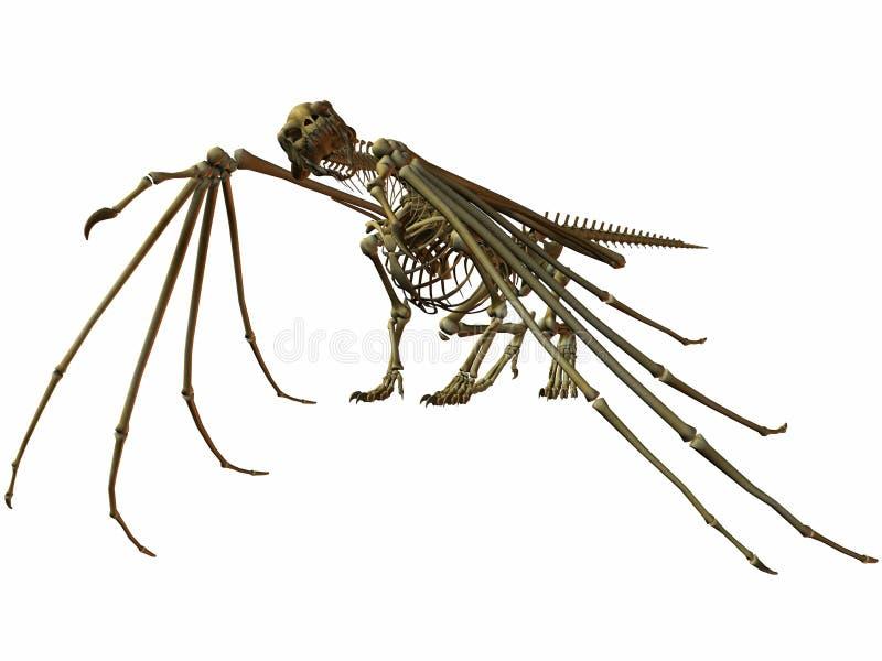 De Draak van het skelet vector illustratie