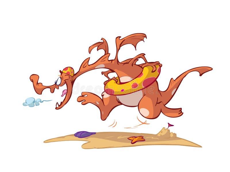 De draak van het strand royalty-vrije illustratie