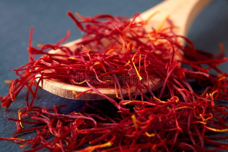 De draden van het saffraankruid royalty-vrije stock foto