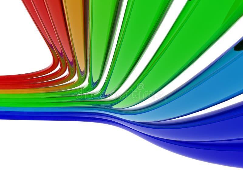 De dradenachtergrond van de kleur royalty-vrije illustratie