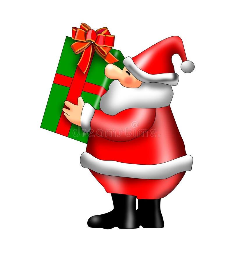 De dragende giften van de Kerstman vector illustratie